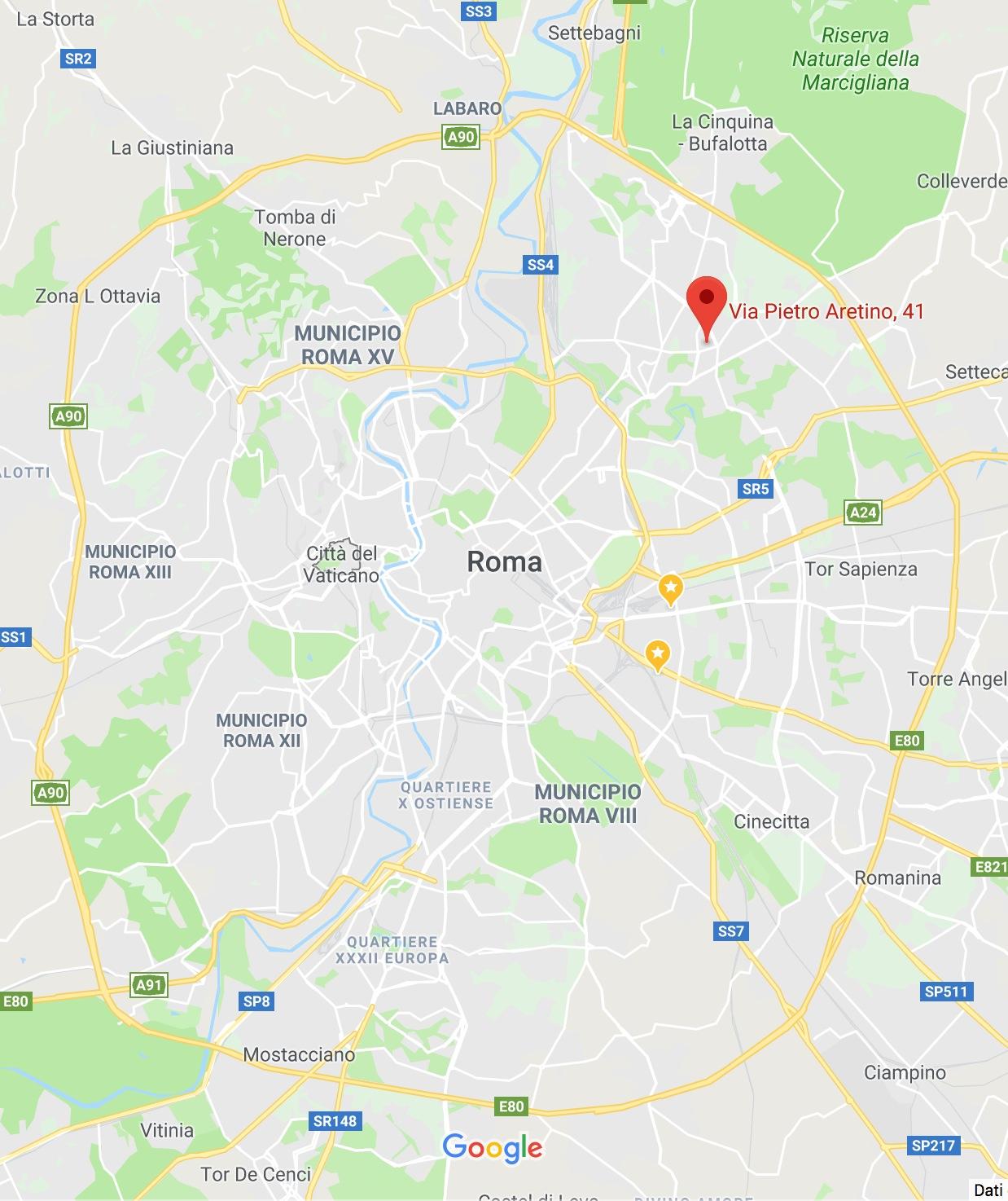 Cartina Roma Ciampino.Via Pietro Aretino 41 Roma Mappa Aristeia